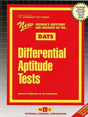 9780837358123: Differential Aptitude Tests (Admission Test Series)