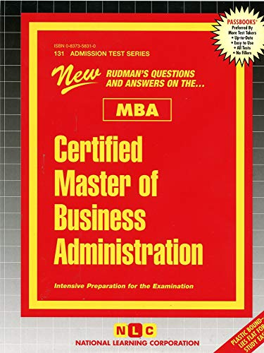 9780837358314: Certified Master of Business Administration (MBA) (Admission Test Passbooks)