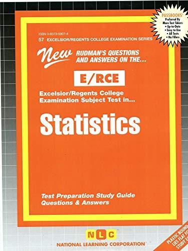 9780837359076: STATISTICS (Excelsior/Regents College Examination Series) (Passbooks) (Act Proficiency Examination Program)