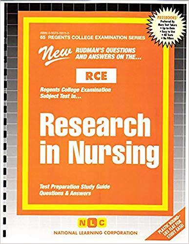 9780837359151: RESEARCH IN NURSING (Excelsior/Regents College Examination Series) (Passbooks) (Regents College Examination Passbooks)