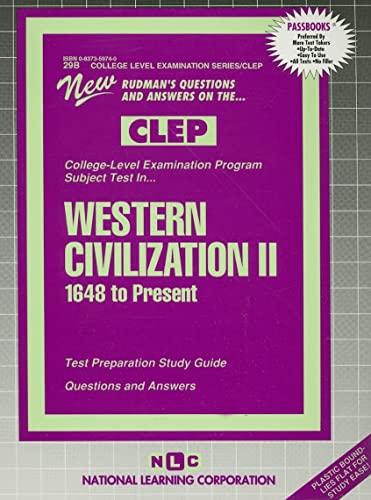 9780837359748: WESTERN CIVILIZATION II (1648 To Present) (College Level Examination Series) (Passbooks) (COLLEGE LEVEL EXAMINATION SERIES (CLEP))