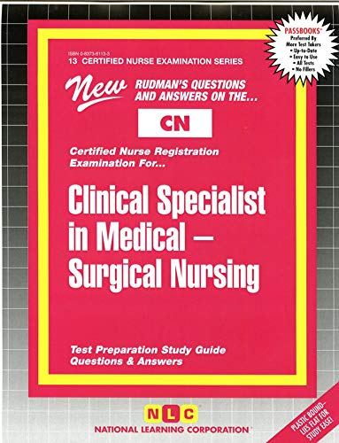 9780837361130: CLINICAL SPECIALIST IN MEDICAL-SURGICAL NURSING ...