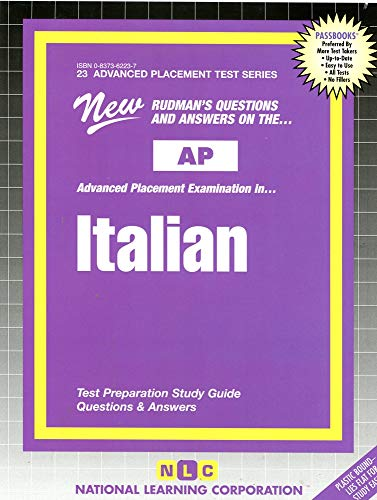 9780837362236: ITALIAN (Advanced Placement Test Series) (Passbooks) (ADVANCED PLACEMENT TEST SERIES (AP))