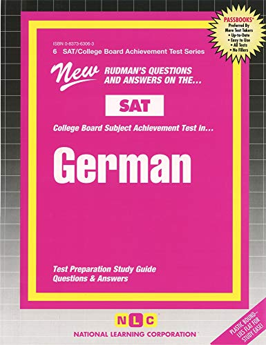 9780837363066: German (College Board Sat II Subject Test Series)