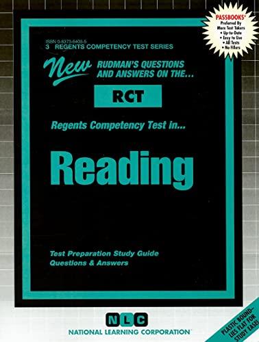 9780837364032: READING (Regents Competency Test Series) (Passbooks) (REGENTS COMPETENCY TEST SERIES (RCT))