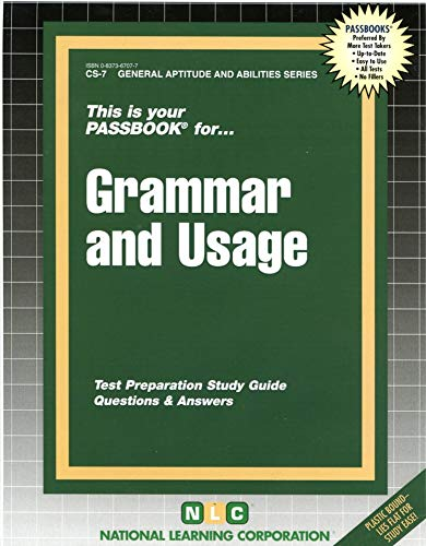 9780837367071: Civil Service Grammar and Usage Passbook (Career Examnination Series)