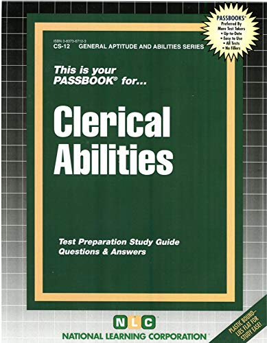 9780837367125: CLERICAL ABILITIES (General Aptitude and Abilities Series) (Passbooks) (General Aptitude and Abilities Passbooks)