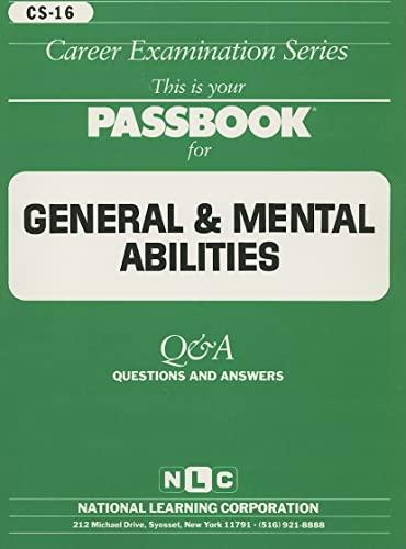 9780837367163: GENERAL AND MENTAL ABILITIES (General Aptitude and Abilities Series) (Passbooks) (General Aptitude & Abilities Series)