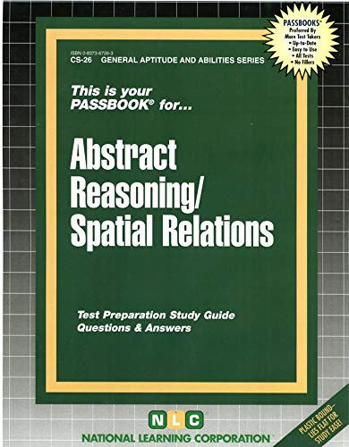 9780837367262: ABSTRACT REASONING / SPATIAL RELATIONS (General Aptitude and Abilities Series) (Passbooks) (Passbooks for General Aptitude and Abilities)