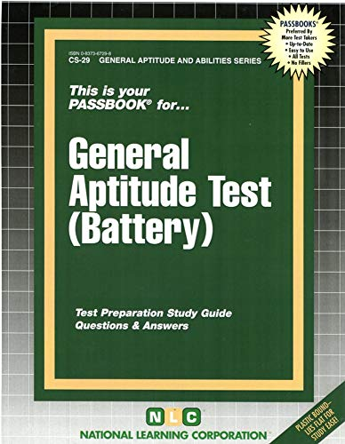 9780837367293: GENERAL APTITUDE TEST (BATTERY) (General Aptitude and Abilities Series) (Passbooks)
