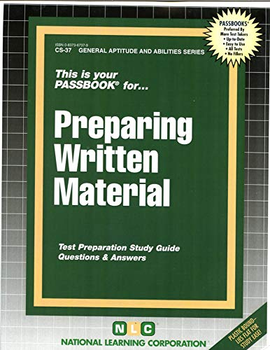 Preparing Written Material: National Learning Corporation