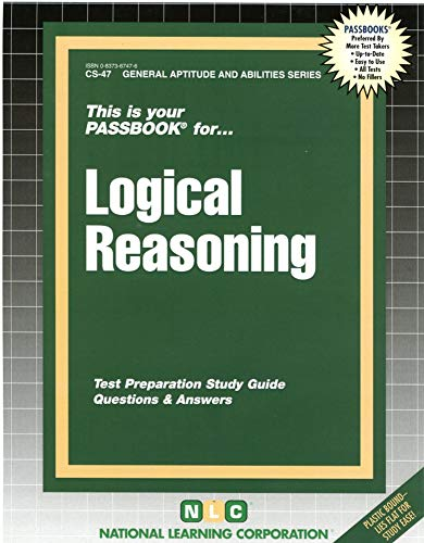 9780837367477: LOGICAL REASONING (General Aptitude and Abilities Series) (Passbooks)