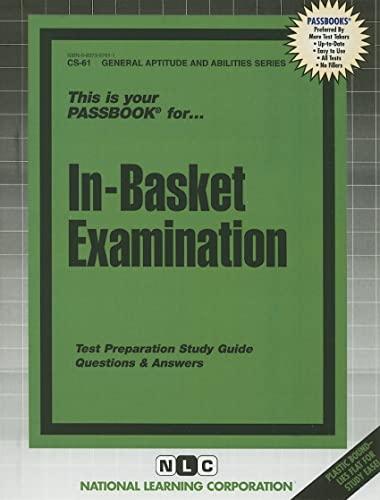 9780837367613: IN-BASKET EXAMINATION (General Aptitude and Abilities Series) (Passbooks) (General Aptitude and Abilities Passbooks)