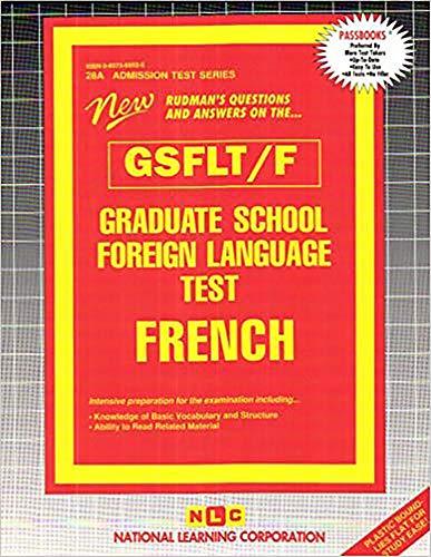 9780837369525: Graduate School Foreign Language Test (GSFLT) - French