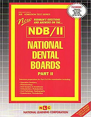 9780837369563: National Dental Boards (NDB) - Part ll (Rudman, National Dental Boards Part II)
