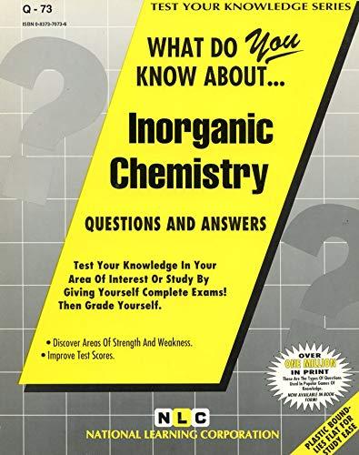 9780837370736: INORGANIC CHEMISTRY (Test Your Knowledge Series) (Passbooks) (TEST YOUR KNOWLEDGE SERIES (Q))