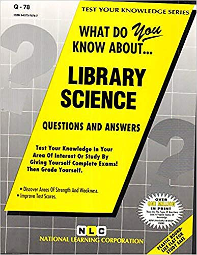 LIBRARY SCIENCE (Test Your Knowledge Series) (Passbooks) (TEST YOUR KNOWLEDGE SERIES (Q)): Rudman, ...