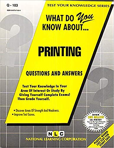 9780837371030: PRINTING (Test Your Knowledge Series) (Passbooks) (TEST YOUR KNOWLEDGE SERIES (Q))