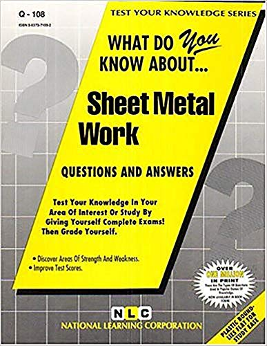 9780837371085: SHEET METAL WORK (Test Your Knowledge Series) (Passbooks) (TEST YOUR KNOWLEDGE SERIES (Q))