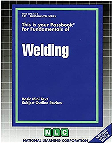 9780837371153: WELDING (Test Your Knowledge Series) (Passbooks) (TEST YOUR KNOWLEDGE SERIES (Q))