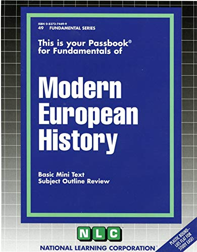 Modern European History: National Learning Corporation