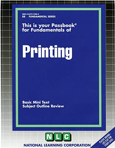 9780837374888: PRINTING (Fundamental Series) (Passbooks)