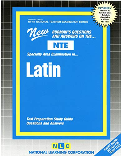 9780837384085: Latin .) (National Teacher Examination Series)