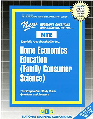 9780837384221: HOME ECONOMICS EDUCATION (FAMILY CONSUMER SCIENCE) (National Teacher Examination Series) (Content Specialty Test) (Passbooks) (NATIONAL TEACHER EXAMINATION SERIES (NTE))