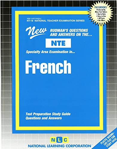 9780837384290: FRENCH (National Teacher Examination Series) (Content Specialty Test) (Passbooks) (NATIONAL TEACHER EXAMINATION SERIES (NTE))