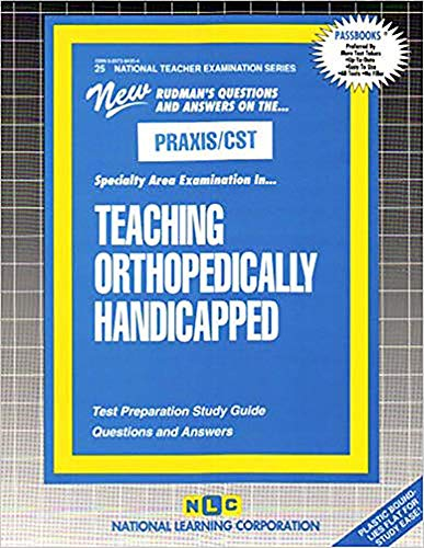 9780837384351: TEACHING ORTHOPEDICALLY HANDICAPPED (National Teacher Examination Series) (Content Specialty Test) (Passbooks) (NATIONAL TEACHER EXAMINATION SERIES (NTE))