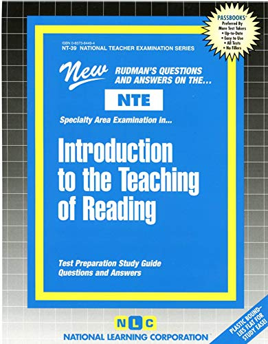 9780837384498: INTRODUCTION TO THE TEACHING OF READING (National Teacher Examination Series) (Content Specialty Test) (Passbooks) (NATIONAL TEACHER EXAMINATION SERIES (NTE))