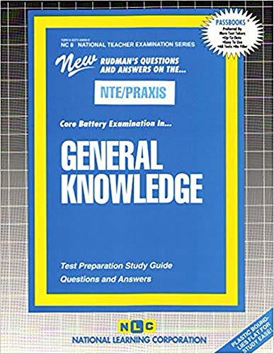 9780837384689: GENERAL KNOWLEDGE (COMBINED) (National Teacher Examination Series) (Passbooks) (NATIONAL TEACHER EXAMINATION SERIES (NTE))