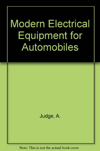 9780837600024: Modern Electrical Equipment for Automobiles (Motor manuals, v. 6)