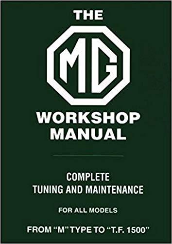 9780837601175: The MG Workshop Manual: 1929-1955