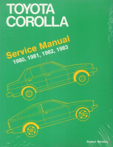 9780837602462: Toyota Corolla Service Manual 1980-83 All 1.8 Models