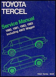 9780837602493: Toyota Tercel: Service Manual 1980, 1981, 1982, 1983