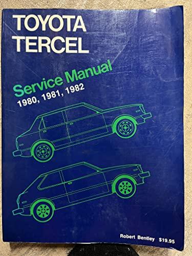 9780837602509: Toyota Corolla Tercel Service Manual 1980, 1981, 1982