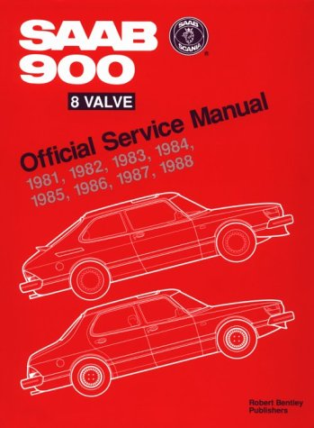 9780837603100: Saab 900 8 Valve Official Service Manual 1981-1988