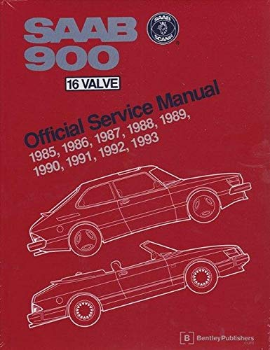 9780837603131: Saab 900 16 Valve Service Manual: 1985-1993/Including All Turbo Spg, and All Convertible