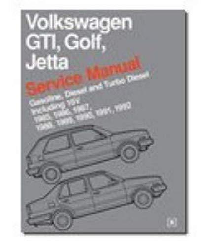 9780837603421: Volkswagen GTI, Golf, and Jetta Service Manual: 1985-1992: Gasoline, Diesel and Turbo Diesel Including 16v (Workshop Manual Vw)
