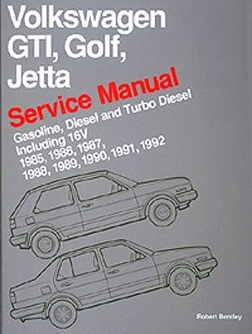 9780837603438: Volkswagen Gti, Golf, and Jetta: Service Manual, 1985, 1986, 1987, 1988, 1989, 1990 : Gasoline, Diesel, and Turbo Diesel, Including 16V