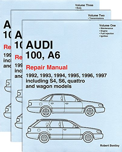9780837603742: Audi 100, A6 : Repair Manual 1992-1997:Including S4, S6, Quattro and Wagon Models (3 volume set)