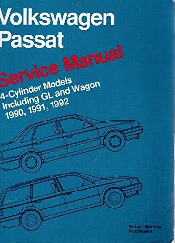 9780837603773: Volkswagen Passat: Service Manual, 1990, 1991, 1992: 4-Cylinder Models Including Gl and Wagon