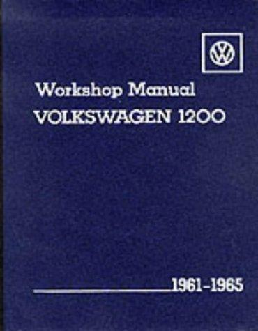 9780837603902: Volkswagen 1200 Workshop Manual: 1961-1965, Types 11, 14 & 15