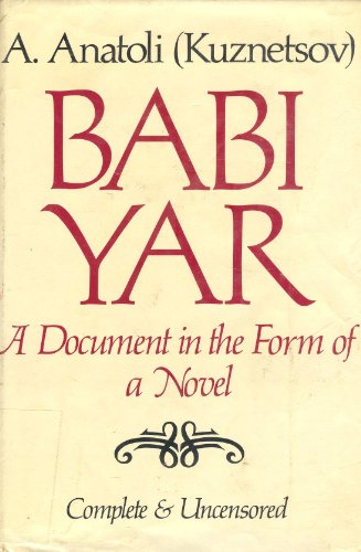 9780837604329: Babi Yar: A Document in the Form of a Novel