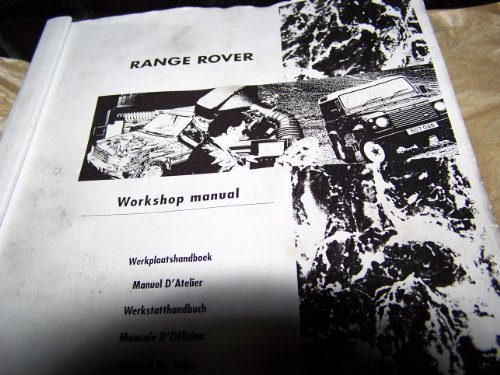 9780837606071: The Range Rover Workshop Manual 1990-1994: All Petrol and Diesel Models from 1990 to 1994