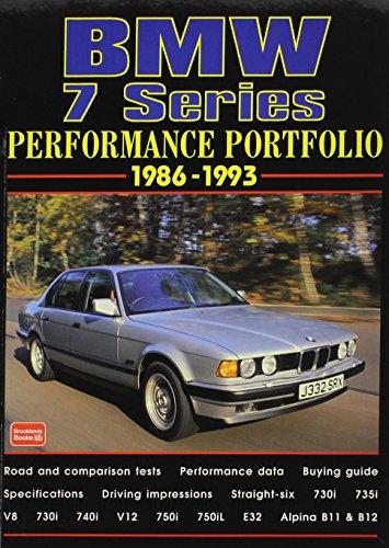9780837612102: Bmw 7 Series Performance Portfolio, 1986-1993