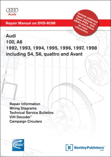9780837612546: Audi 100, A6 1992, 1993, 1994, 1995, 1996, 1997, 1998 Including S4, S6, quattro and Avant Repair Manual on DVD-ROM (Windows 2000/XP)