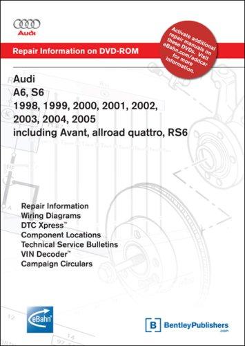 9780837612577: Audi A6, S6 1998, 1999, 2000, 2001, 2002, 2003, 2004, 2005: Repair Manual on DVD-ROM: Including Avant, Allroad Quattro, Rs6