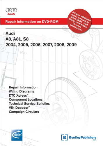 9780837612591: Audi A8, A8L, S8 2004, 2005, 2006, 2007, 2008, 2009 Repair Manual on DVD-ROM (Windows 2000/XP)